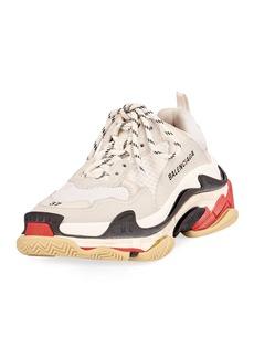 Balenciaga Triple S Mesh & Leather Trainer Sneakers