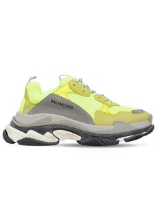 Balenciaga Triple S Suede, Leather & Mesh Sneakers