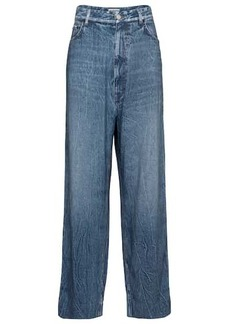 Balenciaga Trompe l'oeil mid-rise wide-leg pants