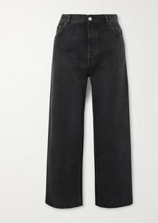 Balenciaga Tube Cropped Low-rise Straight-leg Jeans