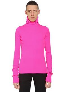 Balenciaga Turtleneck Knit Hoodie Sweater