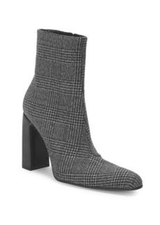Balenciaga Tweed Block Heel Booties