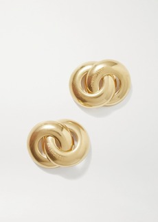 Balenciaga Twin Gold-tone Earrings
