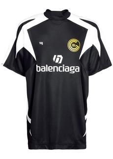 Balenciaga Two Tone Logo Mesh Football Jersey