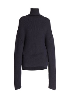 Balenciaga Upside Down Wool Knit Turtleneck Sweater