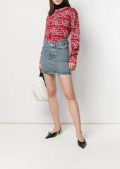 Balenciaga v-neck mini skirt