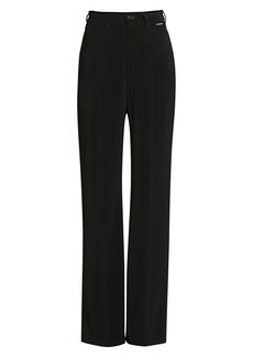 Balenciaga V-Neck Wide-Leg Trousers