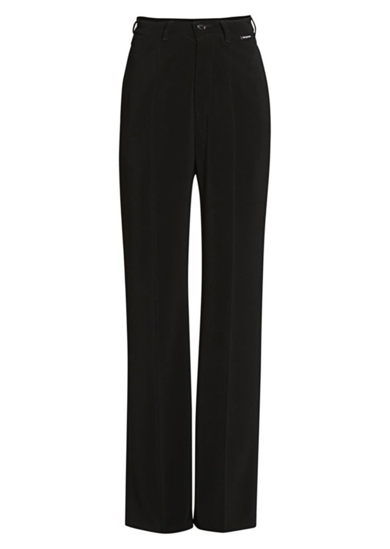 Balenciaga V-Neck Wide-Leg Trousers