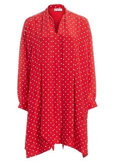 Balenciaga Vareuse Polka Dot Silk Shift Dress