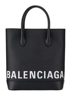 Balenciaga Ville Grained Logo Tote Bag