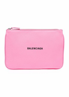 Balenciaga Ville Large Leather Pouch Wallet