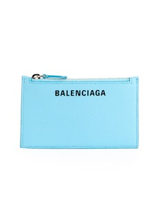Balenciaga Ville Long Leather Card Case with Inlaid Logo
