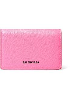 Balenciaga Ville Neon Printed Leather Wallet
