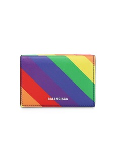 Balenciaga Ville Printed Leather Mini Wallet