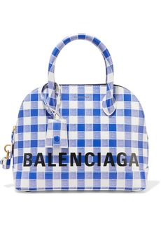 Balenciaga Ville Printed Leather Tote