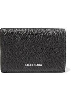 Balenciaga Ville Printed Textured-leather Wallet
