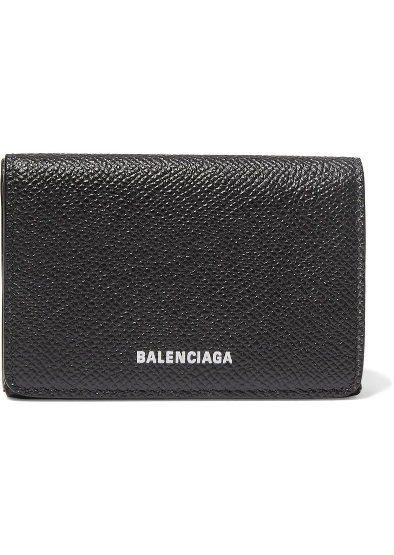 Balenciaga Ville Printed Textured-leather Wallet
