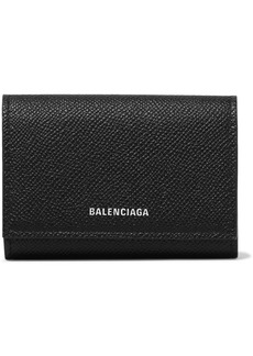 Balenciaga Ville Printed Textured-leather Cardholder