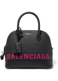 Balenciaga Ville Printed Textured-leather Tote