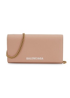 Balenciaga Ville Signature Leather Continental Wallet