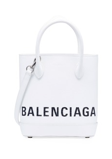 Balenciaga Ville XXS AJ Leather Crossbody Tote Bag - Silver Hardware