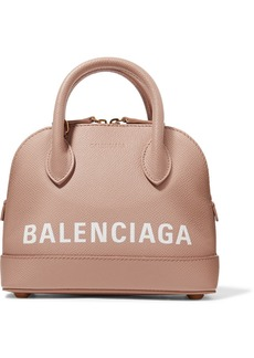 Balenciaga Ville Xxs Aj Printed Textured-leather Tote