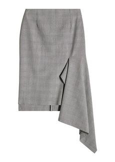 Balenciaga Virgin Wool Skirt with Ruffles