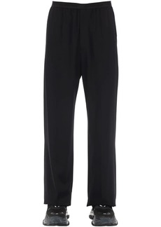 Balenciaga Viscose Blend Fluid Tailored Pants