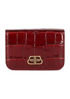 Balenciaga Wallet shiny embossed