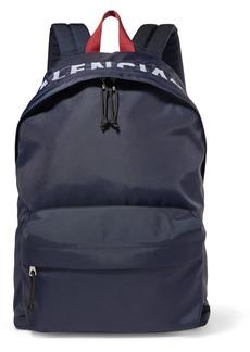 Balenciaga Wheel Embroidered Shell Backpack
