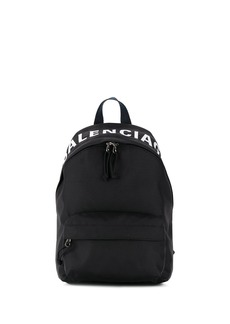 Balenciaga Wheel logo print backpack