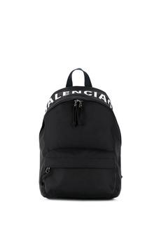 Balenciaga Wheel logo print backpack