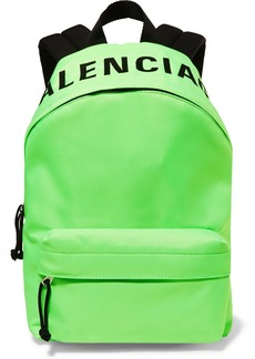 Balenciaga Wheel Neon Embroidered Shell Backpack