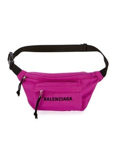 Balenciaga Wheel Small Nylon Logo Belt Bag