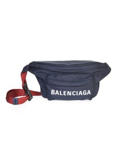 Balenciaga Wheel Nylon Logo Belt Bag