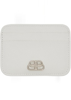 Balenciaga White BB Card Holder