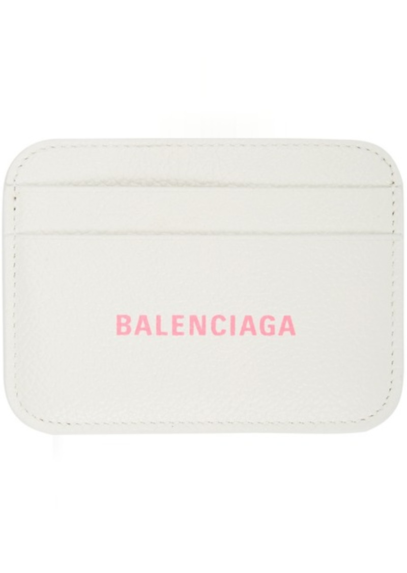 Balenciaga White Cash Card Holder