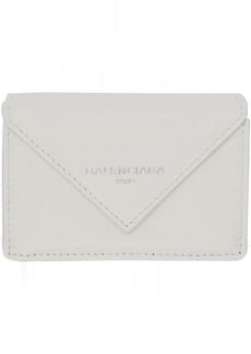 Balenciaga White Mini Papier Wallet