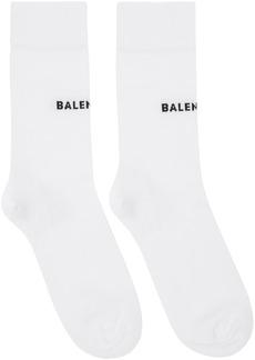 Balenciaga White Tight Logo Socks