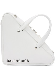 Balenciaga White XS Triangle Chain Bag