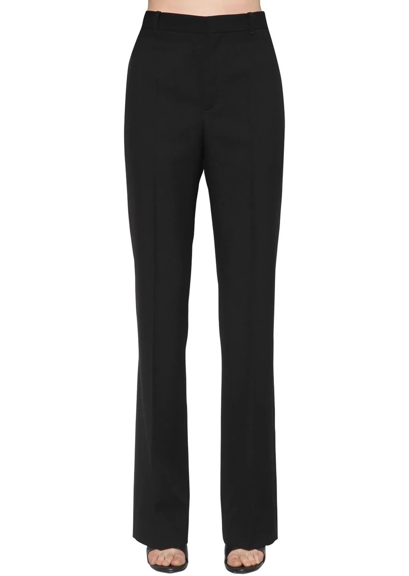 Balenciaga Wide Wool Garbadine Pants