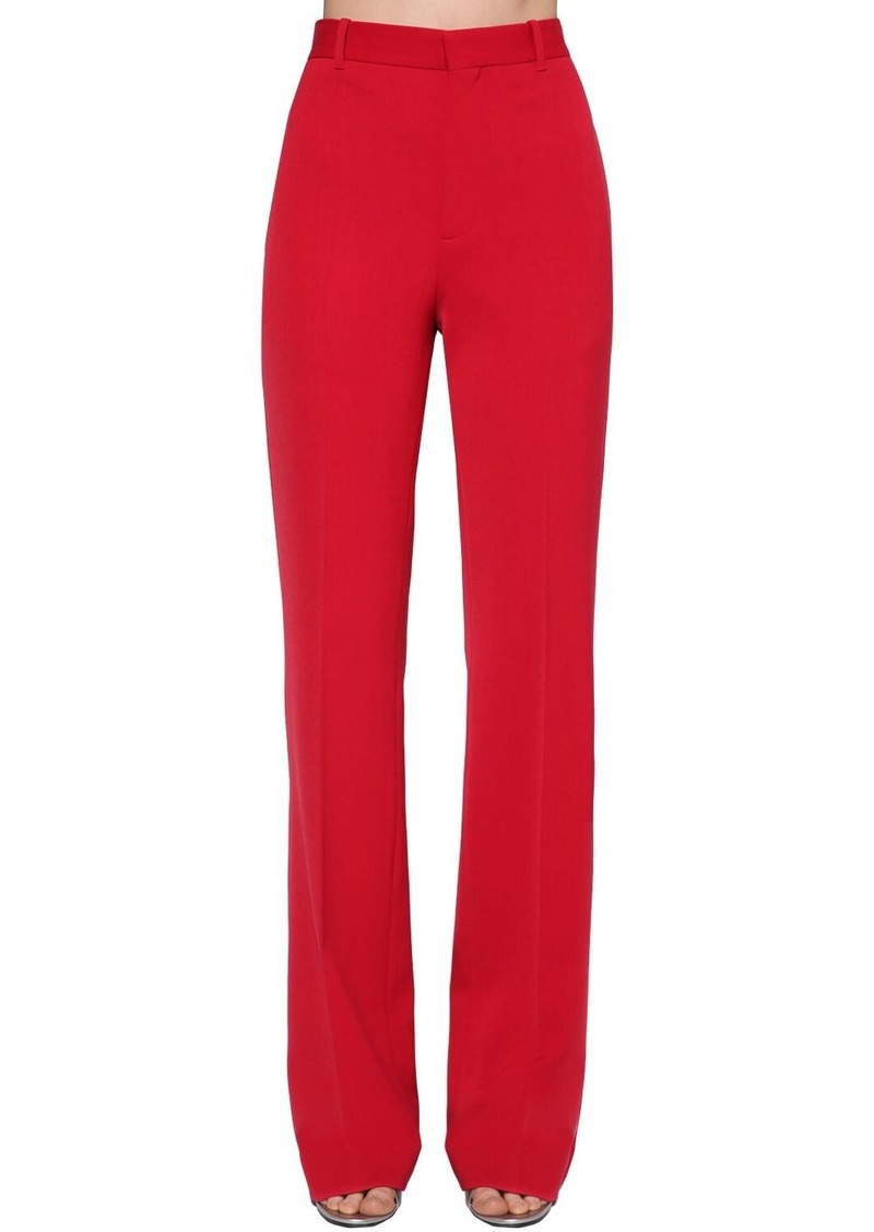 Balenciaga Wide Wool Stretch Twill Pants