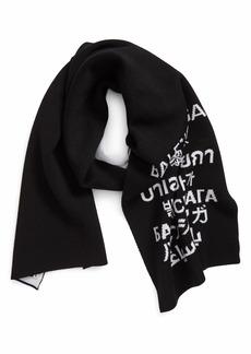 Women's Balenciaga Languages Wool Jacquard Knit Scarf
