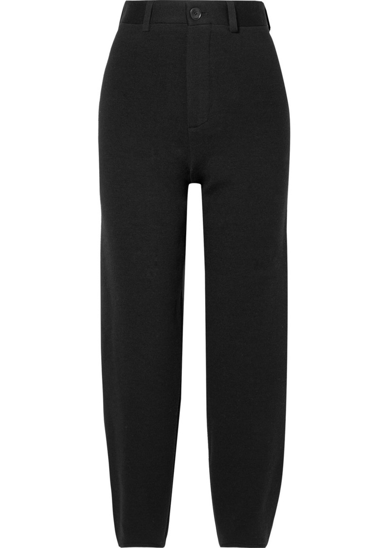 Balenciaga Wool-blend Ponte Straight-leg Pants