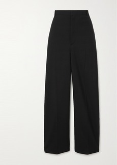 Balenciaga Wool-blend Twill Straight-leg Pants