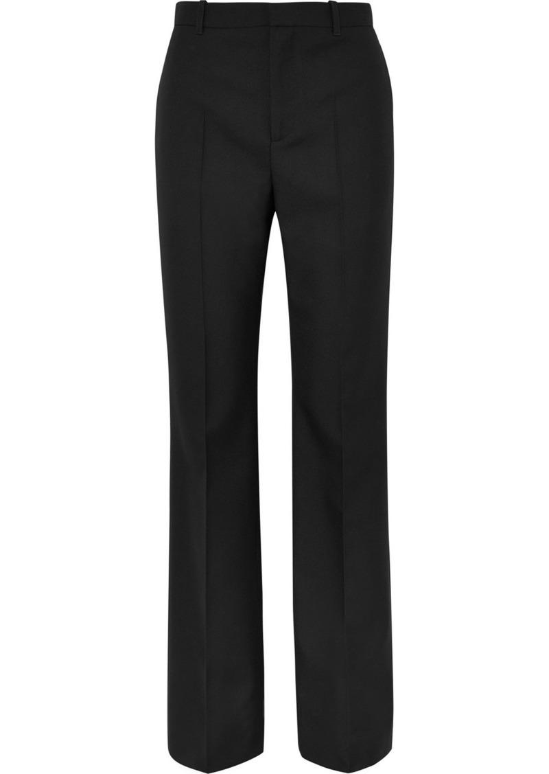 Balenciaga Wool-gabardine Straight-leg Pants