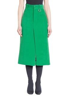 Balenciaga Wool Midi Skirt