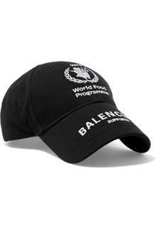 Balenciaga World Food Programme Embroidered Cotton-twill Baseball Cap