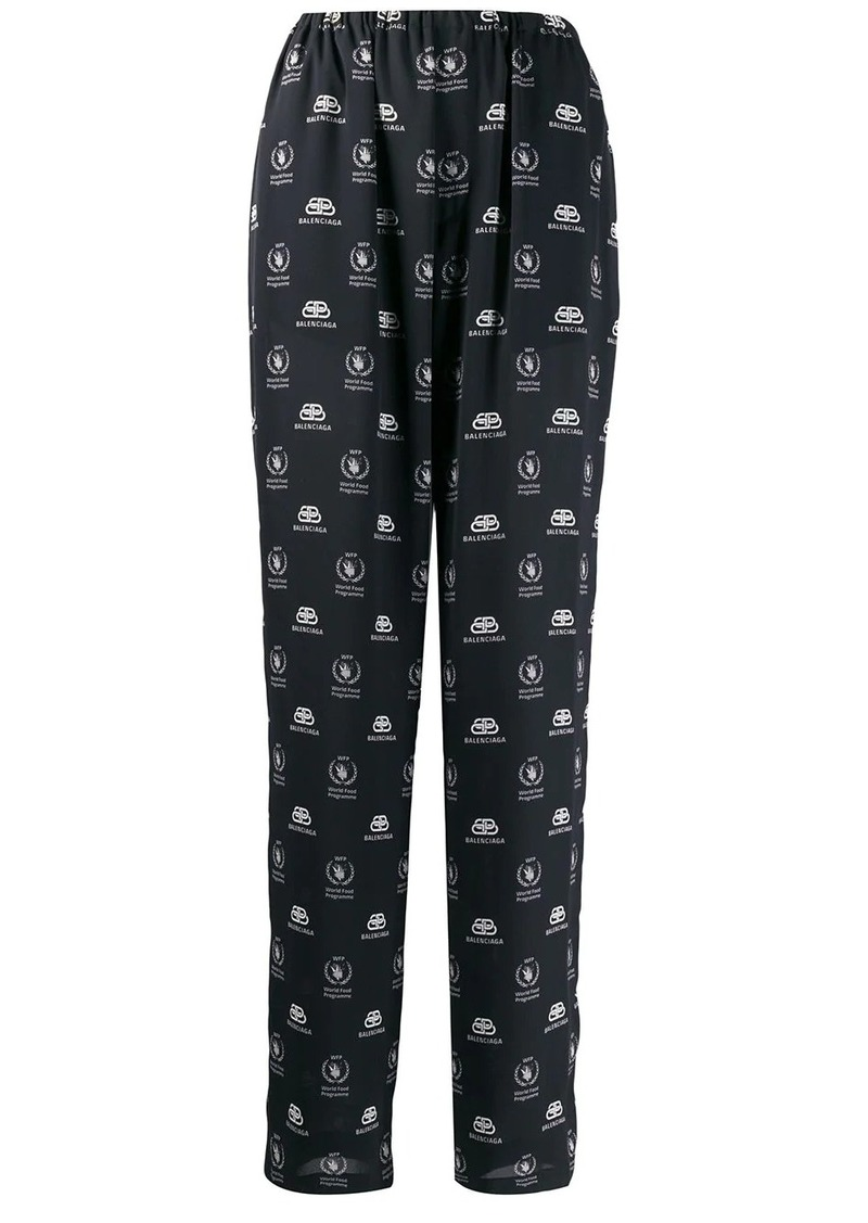 Balenciaga World Food Programme pajama trousers