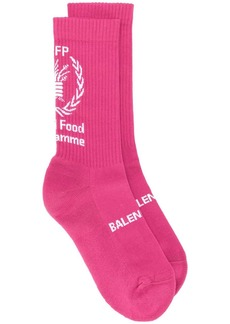 Balenciaga World Food Programme print socks